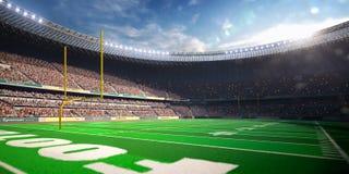 Football Arena Stadium Day. Render blue Stock Image