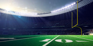 Football Arena Stadium Day. Render blue Royalty Free Stock Photography