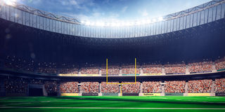 Football Arena Stadium Day render blue Stock Photography