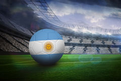 Football in argentina colours Royalty Free Stock Image