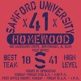 Football athletic sport Samford typography, t-shirt graphics, vectors Royalty Free Stock Photos