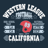 Football Athletic T-shirt  design Stock Images