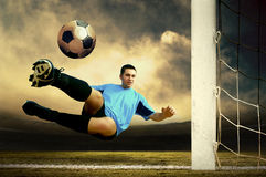 Football attack Royalty Free Stock Images