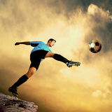 Football attack Stock Images