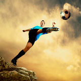 Football attack Royalty Free Stock Photography