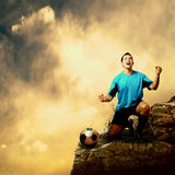 Football attack Royalty Free Stock Photos