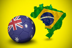 Football in australia colours Stock Image