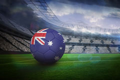 Football in australia colours Royalty Free Stock Photo
