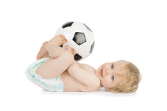 Football Baby Royalty Free Stock Photo
