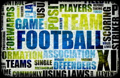 Football Background. Football Soccer Grunge as Abstract Background Art Royalty Free Stock Images