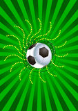 Football background. A colorful background illustration having a soccer ball and some ornaments stock illustration