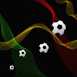 Football background. With different lines and colors Royalty Free Stock Image