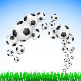Football background. It is a football background Stock Images