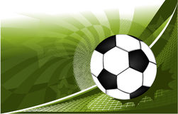 Football background. Football  green background with abstract elements Stock Images
