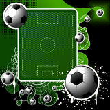 Football background. Background on a football theme with a text box Stock Images