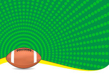 Football background. Illustration of football ball with green background Stock Image