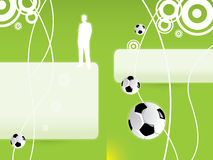 Football background. Green soccer background with pattern and ball Royalty Free Stock Images