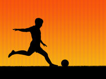 Football background. Illustration. Football player in action Royalty Free Stock Photos