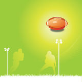 Football background. Abstract illustration of basic Football equipment Royalty Free Stock Image
