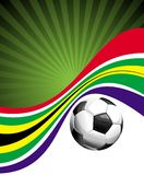 Football background with the ball and African flag Royalty Free Stock Photos