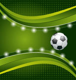 Football background with ball for design card Royalty Free Stock Photography