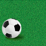 Football background with ball. Vector. Royalty Free Stock Photography