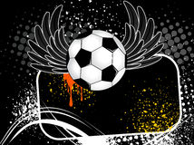 Football background with the ball, wings Stock Photos