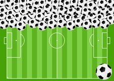 Football background - cdr format Royalty Free Stock Photos