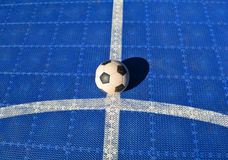 Football background of blue Royalty Free Stock Photo