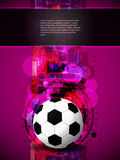 Football background with colorful modern design. Stock Photo