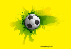 Football background. Creative modern football background with Brazil colors grunge Royalty Free Stock Photos