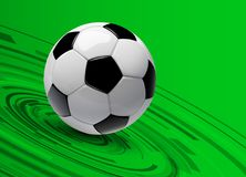 Football background 3d. Football background, 3d vector with soccer ball Stock Images