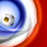 Football background with france flag colors. Royalty Free Stock Photography