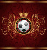 Football background with a gold crown Stock Photos
