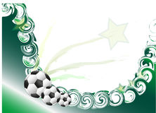 Football background. Background with football motif and star Royalty Free Stock Photos