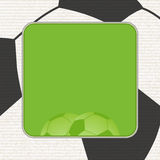 Football background panel graphic Royalty Free Stock Photo