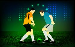 Football background, play arena bright sport ground royalty free illustration