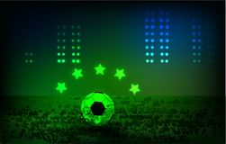 Football background, play arena bright sport ground stock illustration