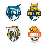 Football badge logo template collection design. Soccer team,vector illuatration Royalty Free Stock Image