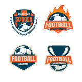 Football badge logo template collection design. Soccer team,vector illustration Royalty Free Stock Photos