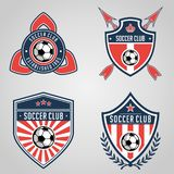 Football badge logo template collection design,soccer team,vector. Sport, icon. royalty free illustration
