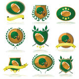 Football badges Stock Photos