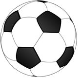 Football ball. Vector of the football ball Royalty Free Stock Photos