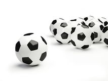 Football ball. It is isolated on a white background Royalty Free Stock Photography