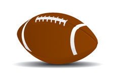 Football Ball. Cool Football Ball Vector Drawing Royalty Free Illustration