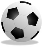 Football ball. White and black football ball, isolated. Illustration Royalty Free Stock Photography