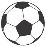 Football ball. Black and white ball Royalty Free Stock Image