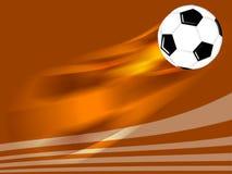 Football ball. Flying soccer football background design Stock Photos