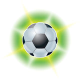 Football ball. Abstract illustrations Stock Photography