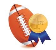 Football ball with award Stock Photo